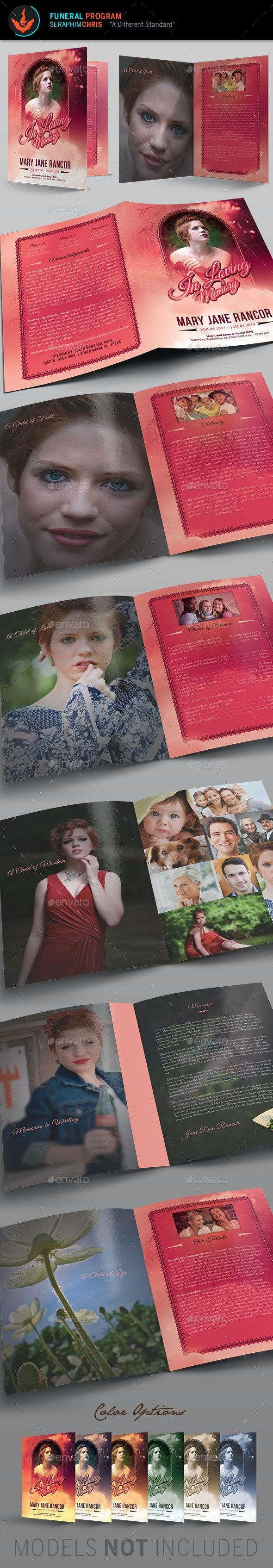Teen Funeral Program Template - Informational Brochures