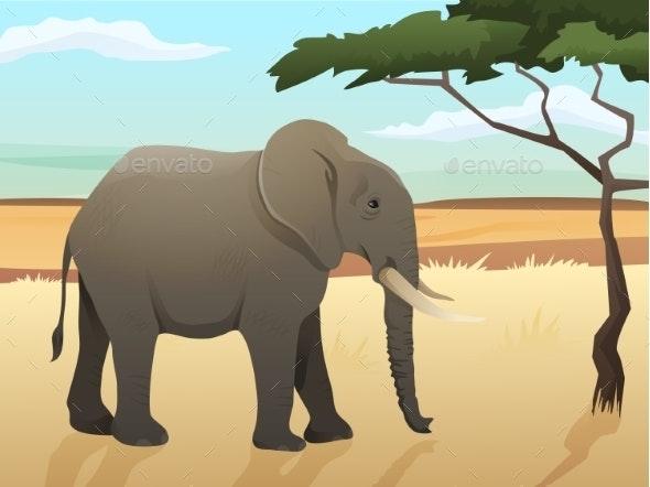 Beautiful Wild African Animal Illustration - Animals Characters