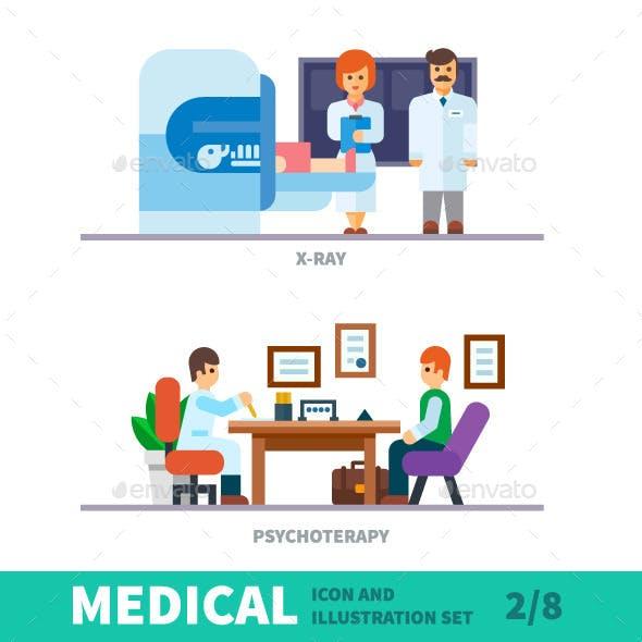 Doctor Reception Medical Illustration
