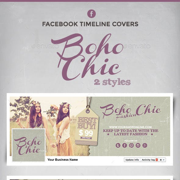Boho Chic Facebook Timeline Covers