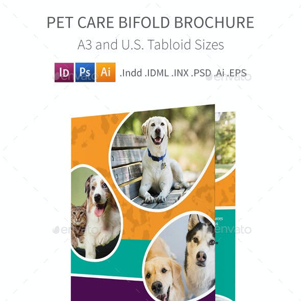 Pet Care Bifold / Halffold Brochure