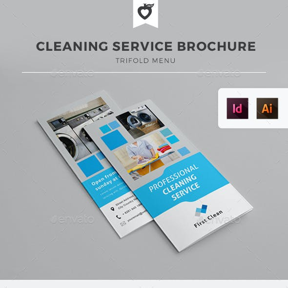 Cleaning Service / Laundry Trifold Brochure