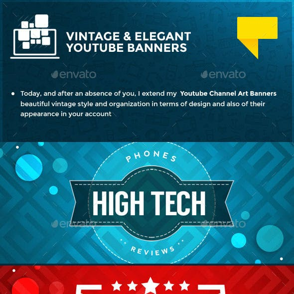 10 Vintage Youtube Banners
