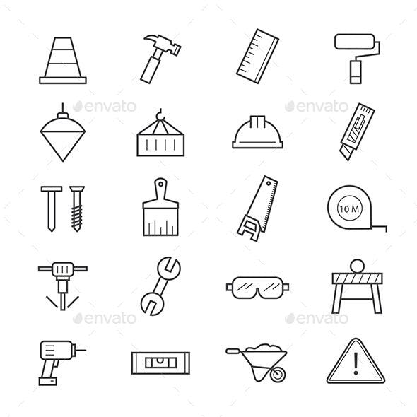 Construction Icons Line
