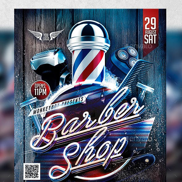 Flyer Barber Shop Konnekt