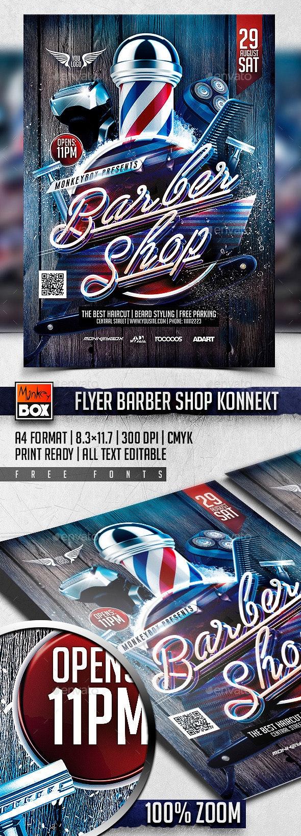 Flyer Barber Shop Konnekt - Events Flyers