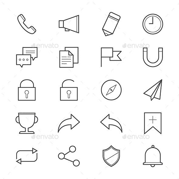 Internet and Website Icons Line