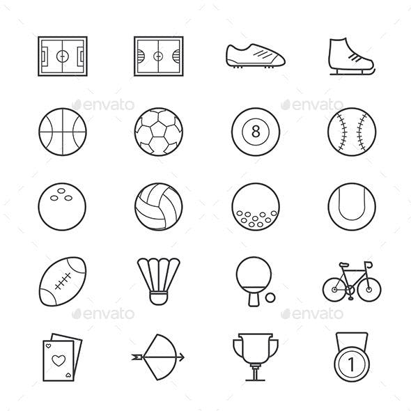 Sport Icons Line