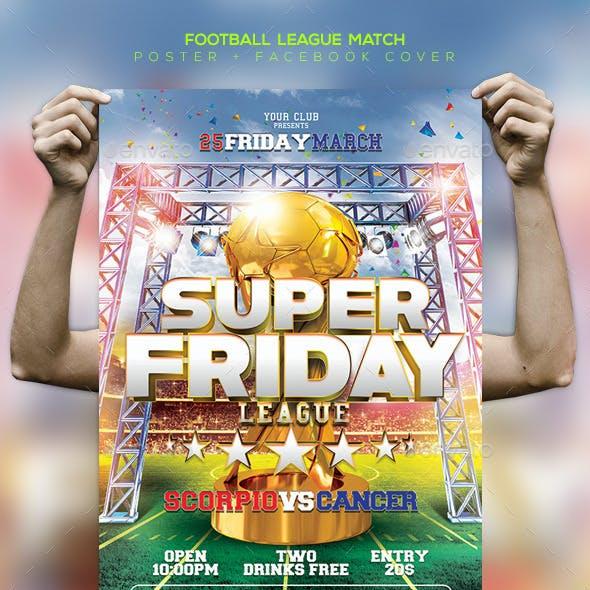 Football Game Template Flyer / Poster / Facebook
