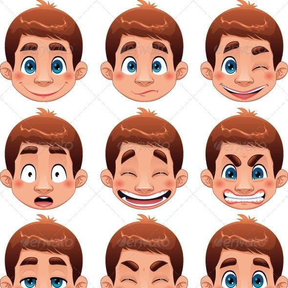 Boy Expressions.