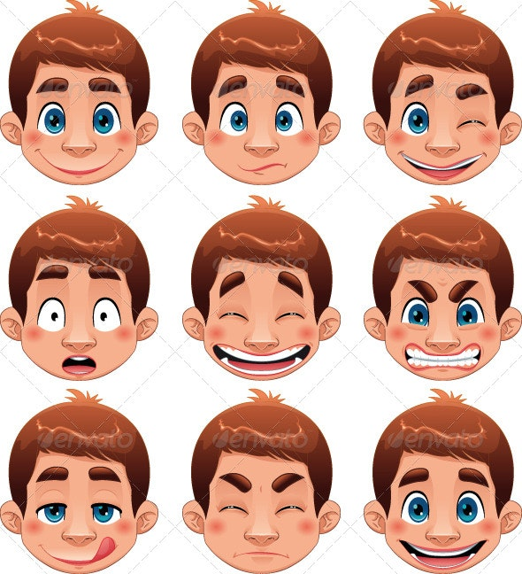 Boy Expressions.  - People Characters