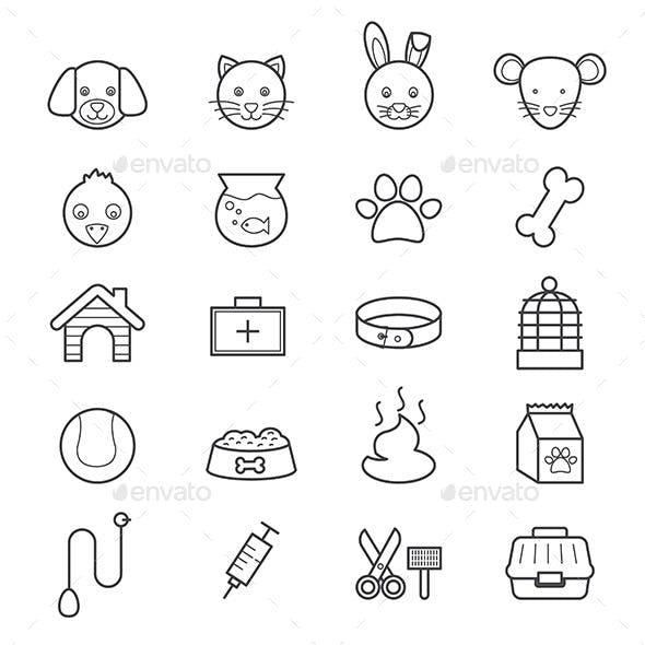 Pet Icons Line