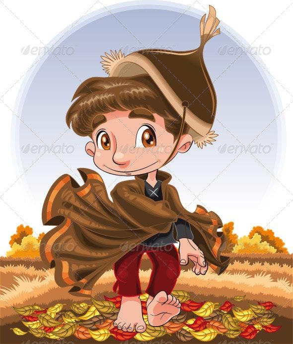 Autumn boy - Seasons Nature