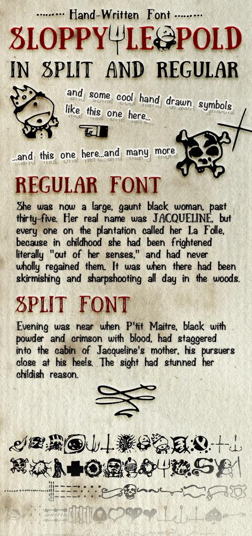 Hand Written Font Sloppy Leopold - Hand-writing Script