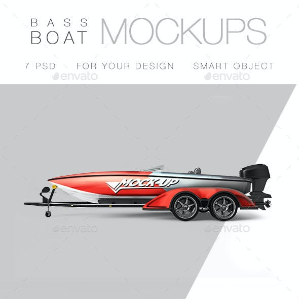 Bass Boat Mock-up