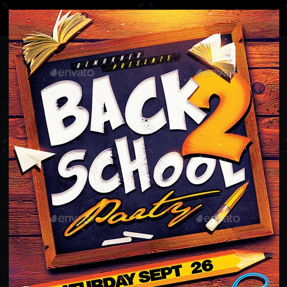Back To School | Flyer Template PSD