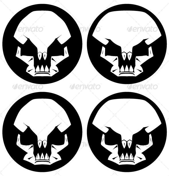 Abstract Skulls - Monsters Characters