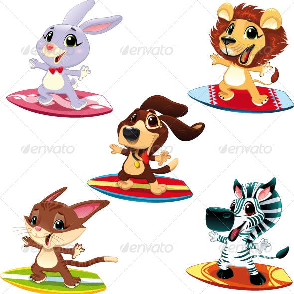 Animals with surf