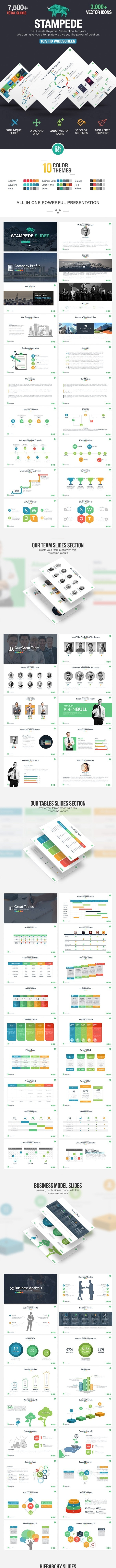 Stampede - Multipurpose Keynote Template - Business Keynote Templates