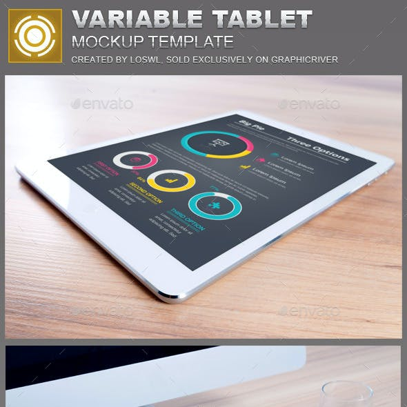 Variable Tablet Mockups Template