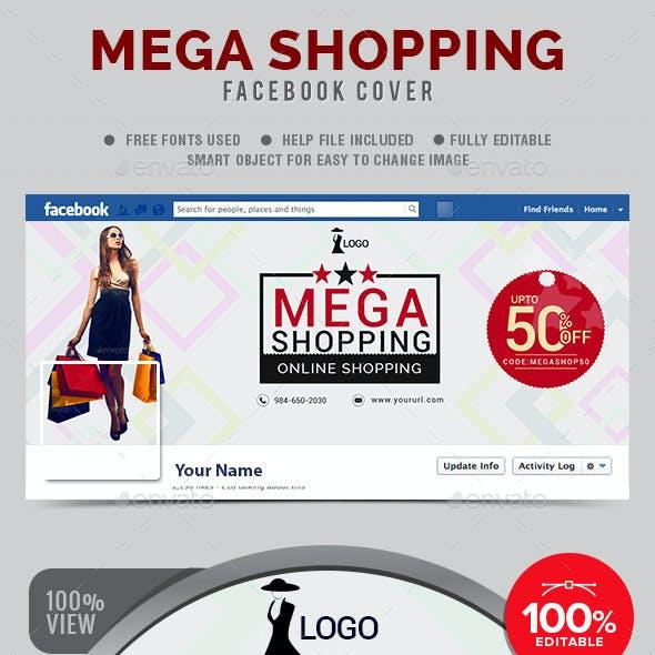 Mega Shopping Facebook Cover