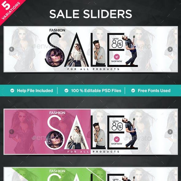 Sale Sliders - 5 Designs