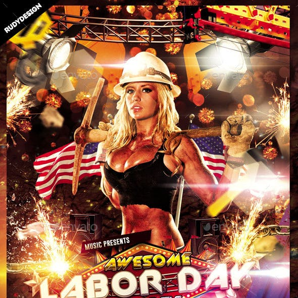 Labor Day Party Flyer