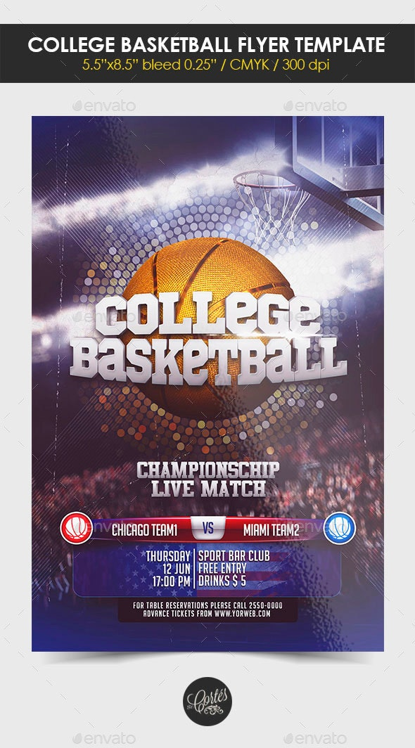 College Basketball Flyer Template - Print Templates