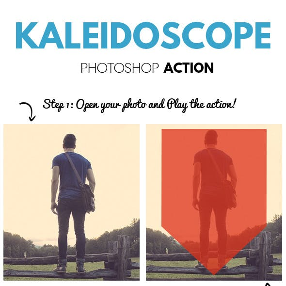 Kaleidoscope Abstract Effect Photoshop Action