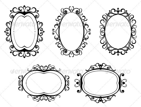 Vintage frames and borders - Characters Vectors
