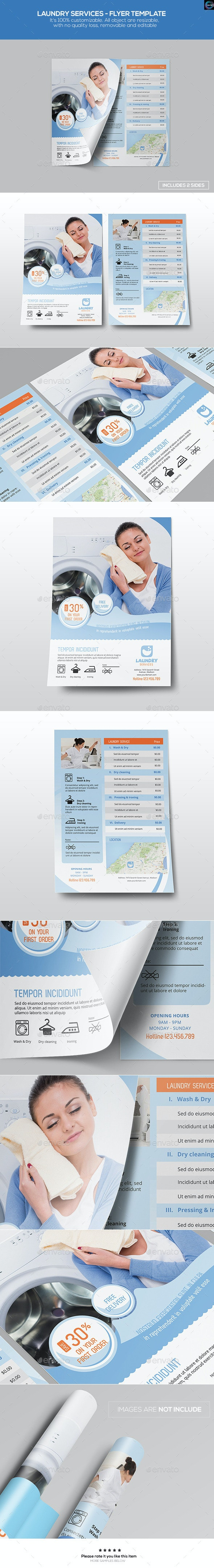 Laundry Services - Flyer Template - Commerce Flyers