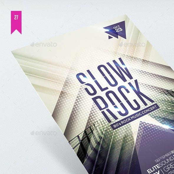 Slow Rock - Flyer Template