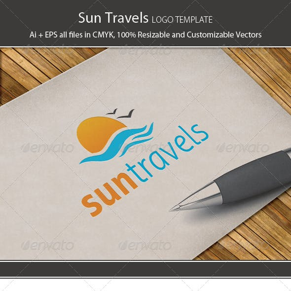 Sun Travels Logo Template