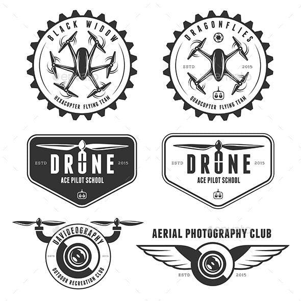 Drones Emblem Set