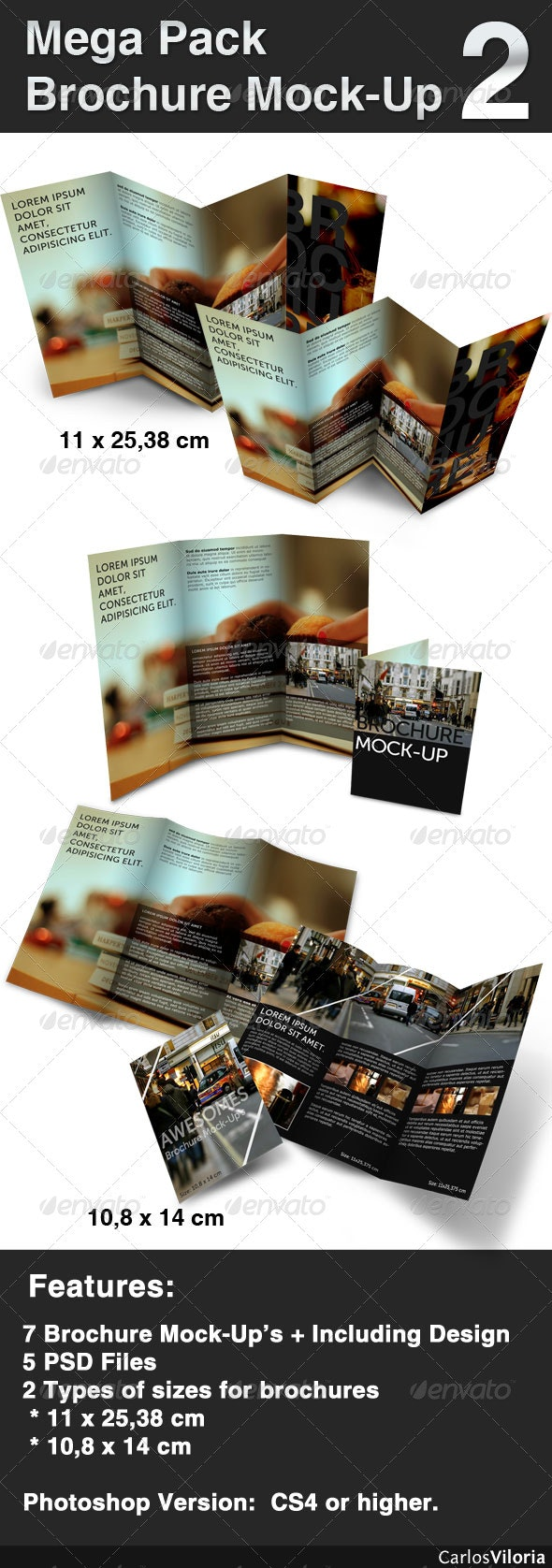 Mega pack Brochure - Mock-Up 2  - Brochures Print