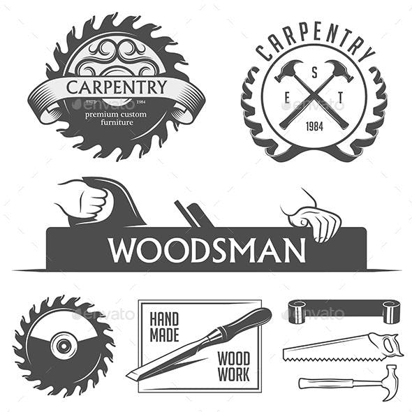 Carpentry Design Elements Set