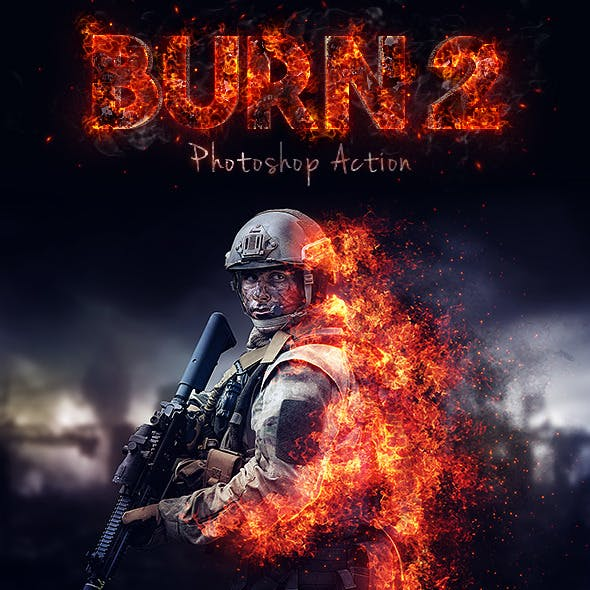 Burn 2 Photoshop Action