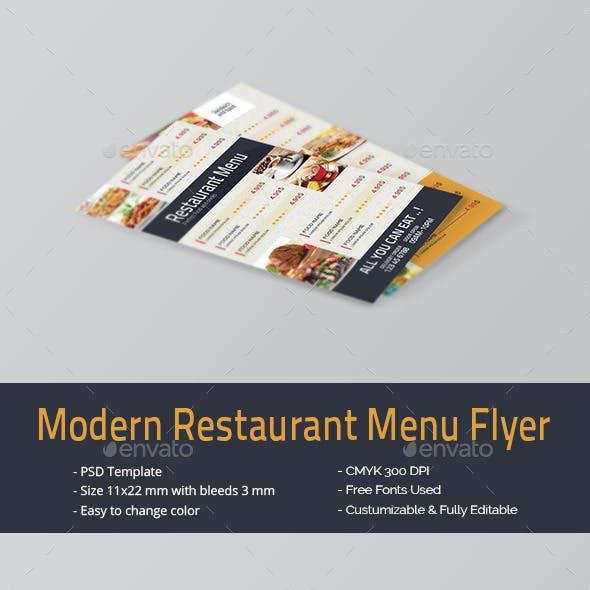 Modern Restaurant Menu Flyer