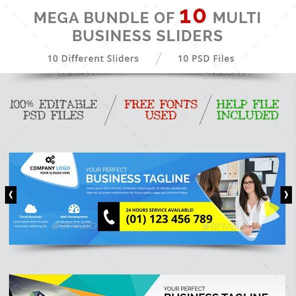 Bundle of 10 Multi Business Sliders