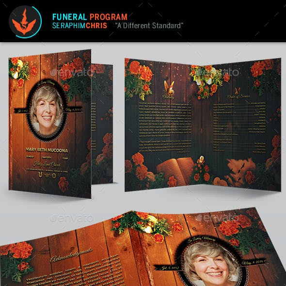 Mothers Funeral Program Template