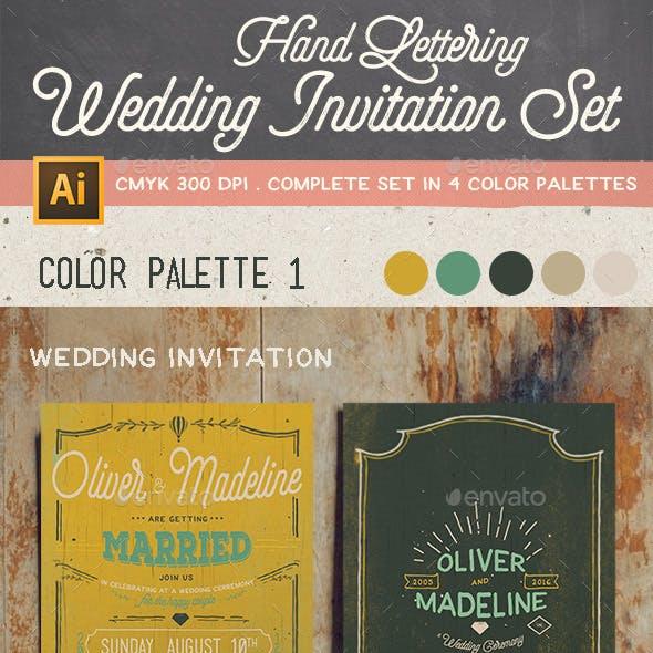 Classic Hand Lettering Wedding Invitation Set