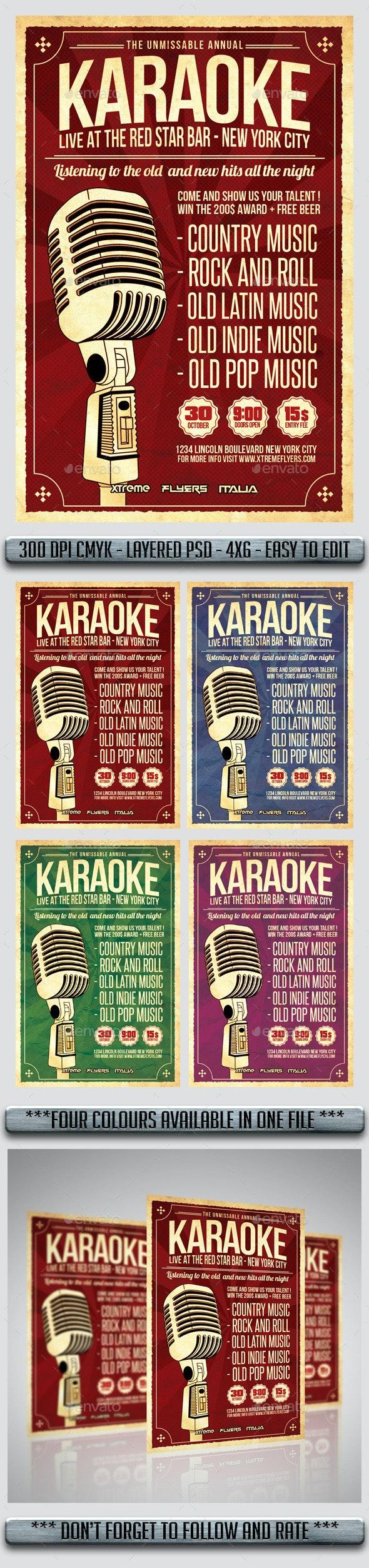 Karaoke Flyer - Flyers Print Templates