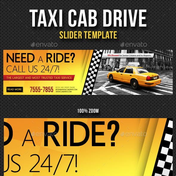 Taxi Cab Drive Slider