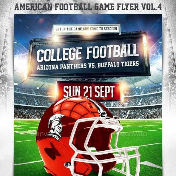 American Football Game Flyer vol.4