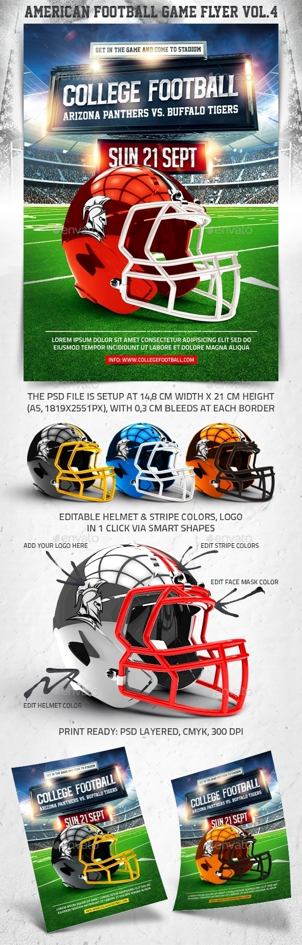 American Football Game Flyer vol.4 - Sports Events