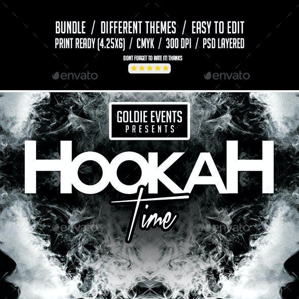 Hookah Time Bundle   3 Flyer Templates