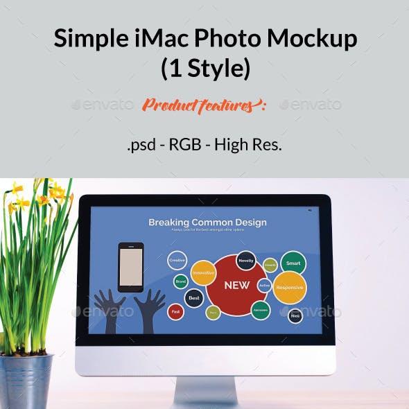 Simple iMac Mockup 2