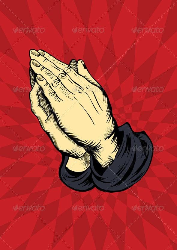 Praying hands - Religion Conceptual