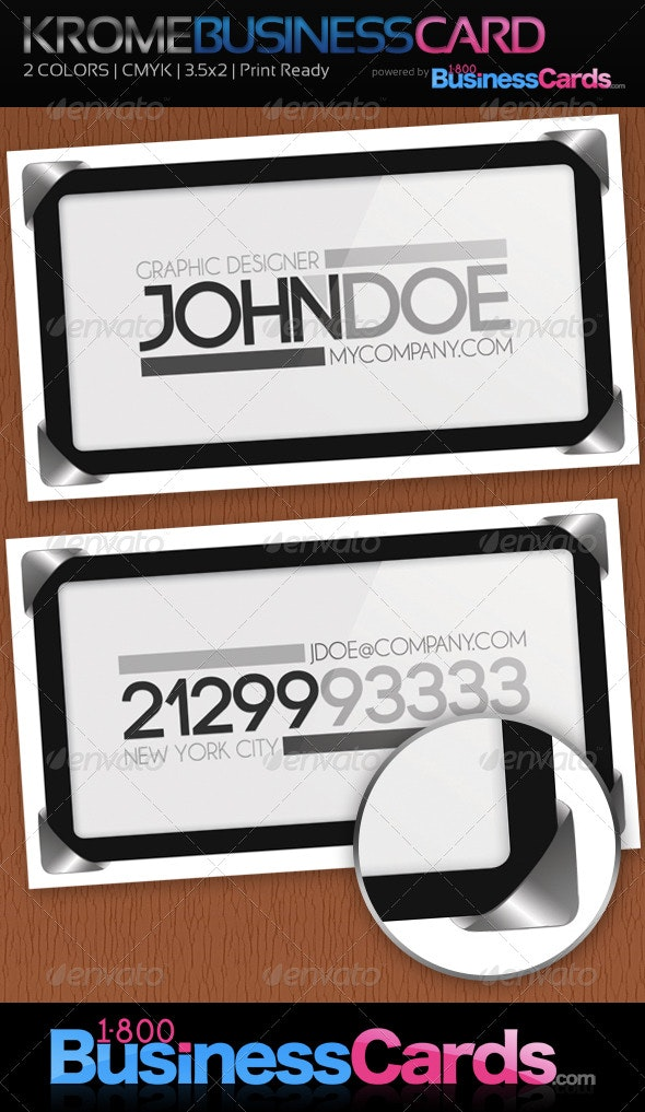 Krome Business Card - Business Cards Print Templates