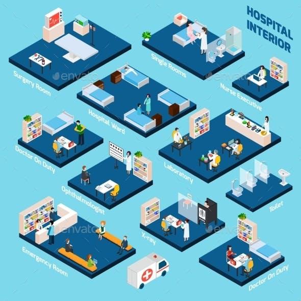 Isometric Hospital Interior